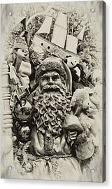 Here Comes Santa Claus Acrylic Print by Bill Cannon