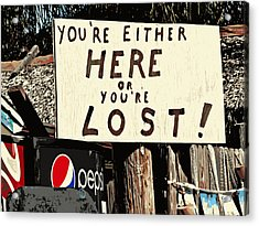 Here Or Lost Acrylic Print