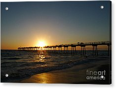 Acrylic Print featuring the photograph Hermosa Beach Sunset by Nina Prommer
