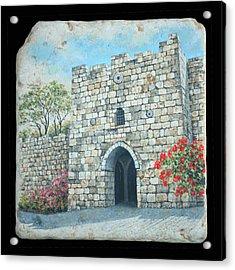 Herod's Gate Acrylic Print by Miki Karni