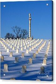 Heroes Peaceful Rest Acrylic Print by David Bearden