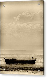 Heron On The Boat Acrylic Print