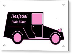 Hesjedal Pink Bikes - Virtual Car Acrylic Print by Asbjorn Lonvig
