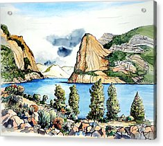 Acrylic Print featuring the painting Hetch Hetchy by Terry Banderas