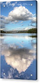 Hewenden Reservoir & Viaduct, Yorkshire Acrylic Print by Steve Swis