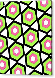 Hexagon Acrylic Print by Louisa Knight