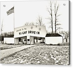 Hi-way Drive-in Acrylic Print