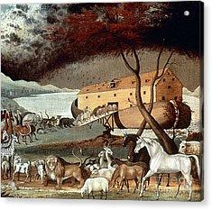 Hicks: Noahs Ark, 1846 Acrylic Print by Granger