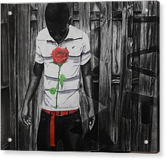 Hidden Heart Acrylic Print by Kodjo Somana