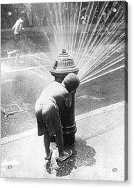 Hiding Behind Hydrant Acrylic Print by Archive Photos