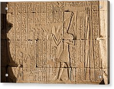Hieroglyphics Cover The Walls Acrylic Print by Taylor S. Kennedy