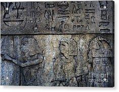 Hieroglyphs Acrylic Print by Lee Dos Santos