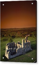High Angle View Of An Old Ruin,with Acrylic Print by The Irish Image Collection