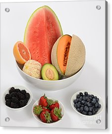 High Carbohydrate Fruit Acrylic Print by Photo Researchers, Inc.