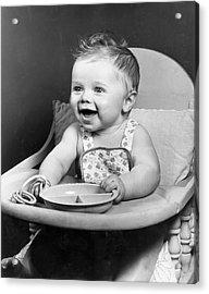 High Chair Hijinks Acrylic Print by Archive Photos
