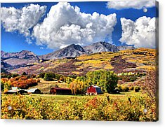 Acrylic Print featuring the digital art High Country Living by Brian Davis