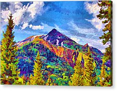Acrylic Print featuring the digital art High Country Pyramid by Brian Davis