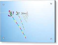 High Flying Kites Acrylic Print by Flash Parker