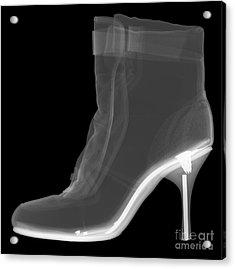 High Heel Boot X-ray Acrylic Print by Ted Kinsman
