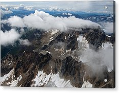High In The Alaska Range Acrylic Print by George Hawkins