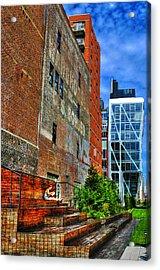 High Line Park Scene Acrylic Print by Randy Aveille