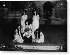 High School Play, Original Caption Miss Acrylic Print by Everett