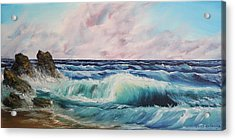 Acrylic Print featuring the painting High Tide by Christie Minalga