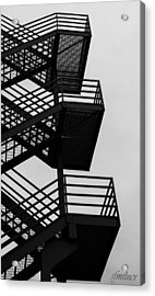 Highrise Escape Acrylic Print by Steven Milner