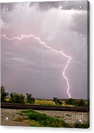 Highway 380 Strike Acrylic Print by Shawn Naranjo