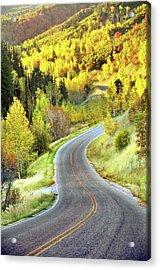 Highway Near Alpine Acrylic Print by Utah-based Photographer Ryan Houston
