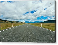 Highway Through The Countryside  Acrylic Print by Ulrich Schade
