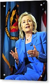 Hillary Clinton, Us Secretary Of State Acrylic Print by Everett