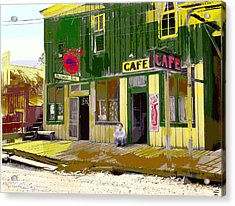 Acrylic Print featuring the mixed media Hilliard Bar by Charles Shoup