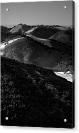 Hills Of Light And Darkness Acrylic Print by Steven Ainsworth