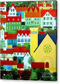 Hillside Village Acrylic Print