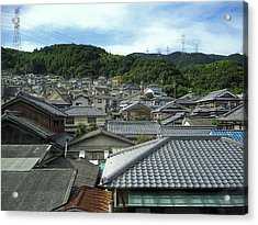 Hillside Village In Japan Acrylic Print by Daniel Hagerman