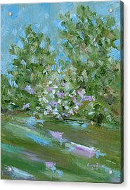 Acrylic Print featuring the painting Hilltop by Judith Rhue