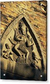 Hindu-influenced Art Above The Entrance Acrylic Print by Steve Raymer
