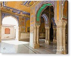 Hindu Palace Interior Acrylic Print by Inti St. Clair