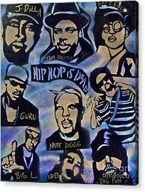 Hip Hop Is Dead #1 Acrylic Print by Tony B Conscious