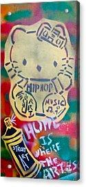 Hip Hop Kitty Acrylic Print by Tony B Conscious