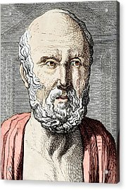 Hippocrates, Ancient Greek Physician Acrylic Print by Sheila Terry