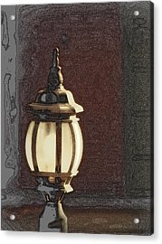 His Guiding Light Acrylic Print by Cindy Wright