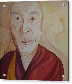 His Holiness The Dalai Lama Acrylic Print by Lorraine Toler