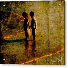 His Kindergarten Sweetheart Acrylic Print by Susanne Van Hulst