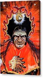 Hispanic Columbus Day Parade Nyc 11 9 11 Acrylic Print by Robert Ullmann