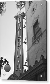 Historic Balboa Theater Acrylic Print