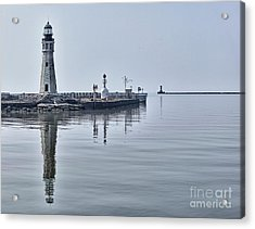 Historic Lighthouse On Lake Erie Acrylic Print by Phil Pantano