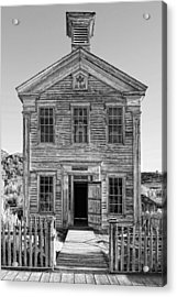 Historic Masonic Lodge 3777 In Bannack Montana Ghost Town Acrylic Print