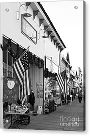 Historic Niles District In California Near Fremont . Main Street . Niles Boulevard . 7d10693 . Bw Acrylic Print by Wingsdomain Art and Photography